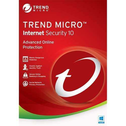 Trend Micro Internet Security 10 1PC 1 Year