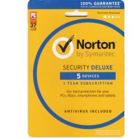 Norton Security Deluxe Multi-Device 5 PCs Windows Mac Smartphone Key Card