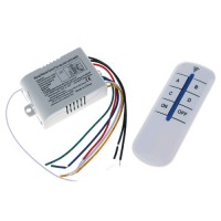 Wireless Remote Control Switch AC 180-240V 4 Way