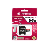 Transcend 64GB microSDHC Class10 UHS-I 400x with adapter