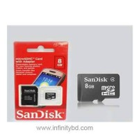 SanDisk MicroSDHC 16GB Memory Card with SD Adapter