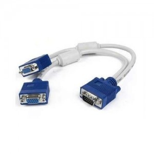 VGA Y Cable  VGA Monitor Y Splitter Cable