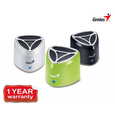Genius Mini Portable Speaker Rechargeable White/ Black