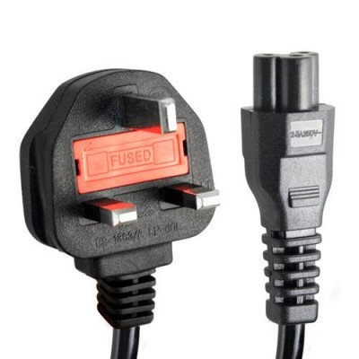 Power Cable 3PIN Flat 1.8M for Use Laptop Adapter