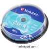 Verbatim 10Pcs 700MB Cake Box CD-R discs