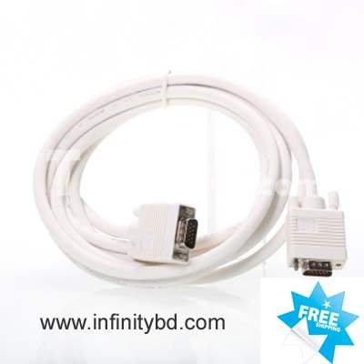 VGA CABLE WHITE 3M 10 FEET