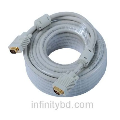 VGA 20-Meter 65 Feets Cable Male To Male Computer Monitor, Projector